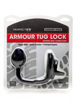 STIMOLATORE PROSTATA PLUG ANALE ARMOUR TUG LOCK BLACK