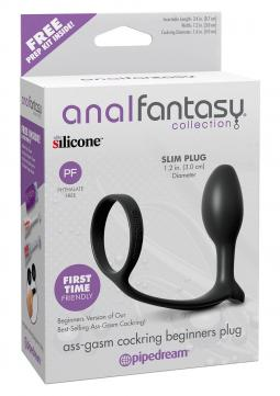 STIMOLATORE PROSTATA Ass Gasm Cock Ring Beginners Black