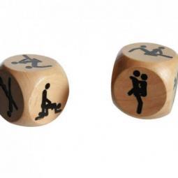 Dadi in legno con posizioni Kamasutra