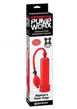 POMPA PER ALLUNGAMENTO PENE PW BEGINNERS POWER PUMP RED