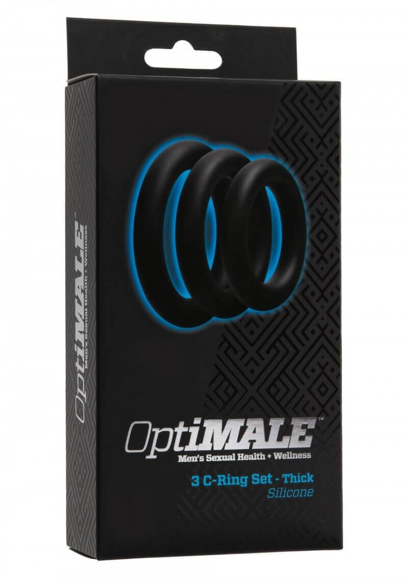 Kit di 3 Anelli OptiMALE 3 C-Ring Set Thick Nero