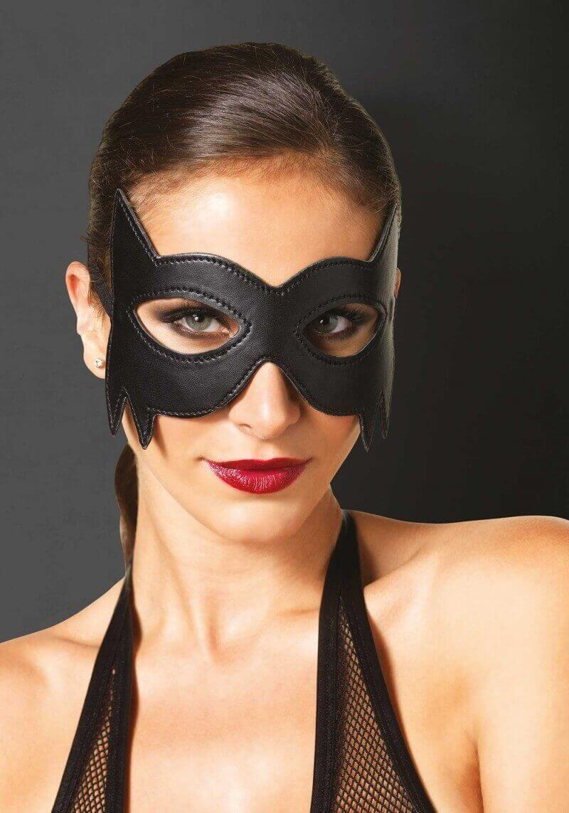 MASCHERA Faux Leather Fantasy Eye Mask Fantasy