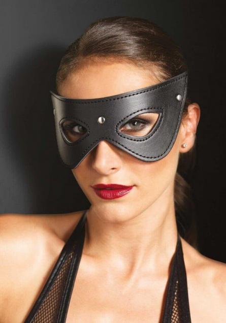 MASCHERA Faux Leather Fantasy Eye Mask Fantasy