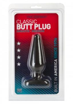 PLUG ANALE BLACK BUTT SMOOTH MEDIUM