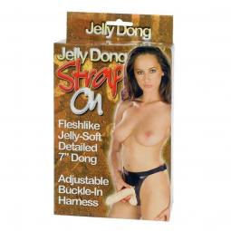 Fallo indosabbile Strap-on Jelly Dong 17,5X4