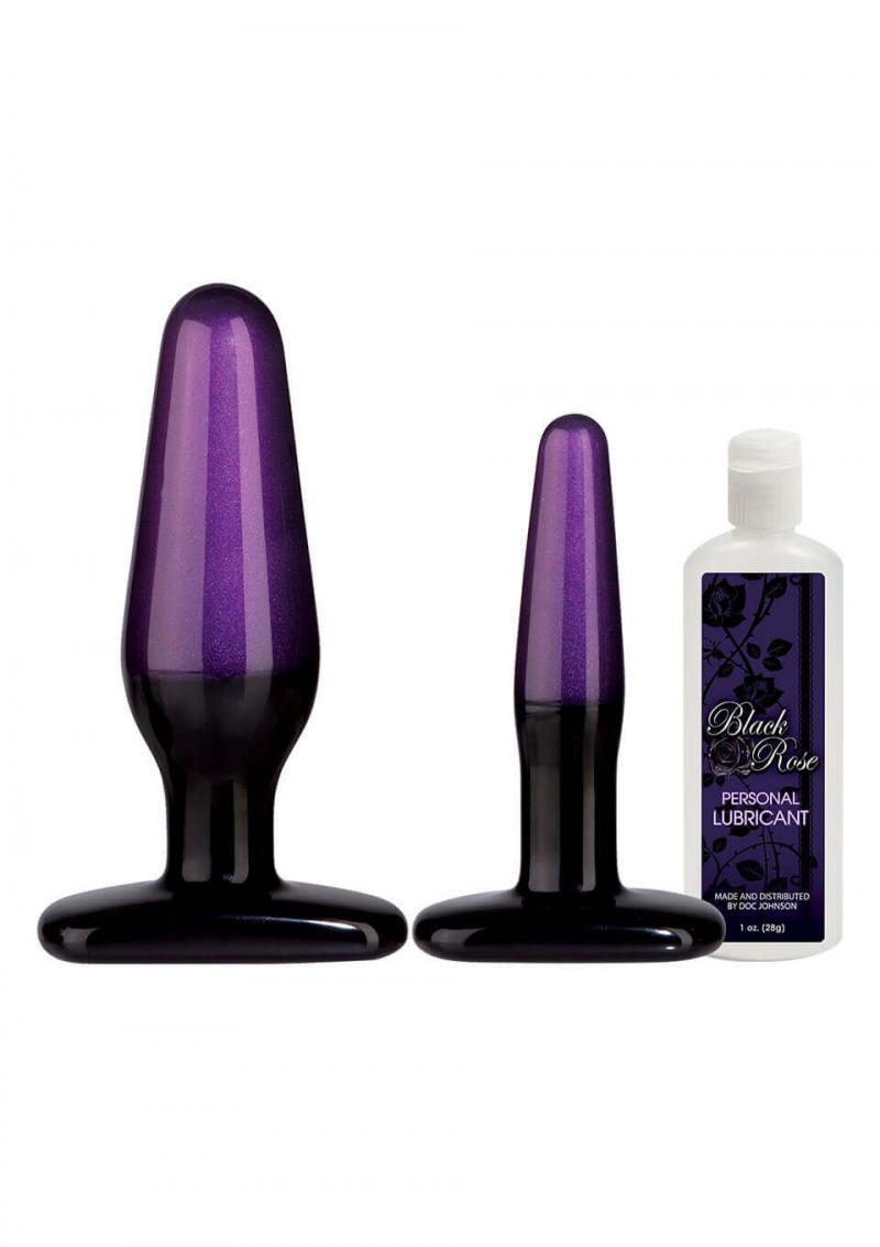 Kit Plug Anali Black Rose Br Anal Trainer Kit Black/purple