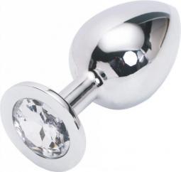 Plug anal argentato large 9cm