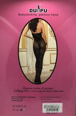 TUTA SEXY CATSUIT DI RETE PICCOLA CON RICAMI  MISURA UNICA