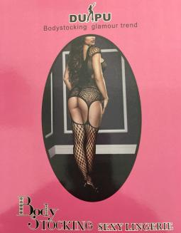 Lingerie Sex Bodystoching Nero Taglia Unica